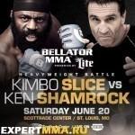 Кимбо Слайс vs. Кен Шемрок на турнире Bellator «Unfinished Business»