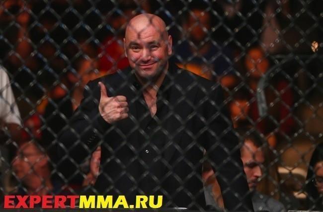 December 13, 2014; Phoenix, AZ, USA; UFC president Dana White in attendance during UFC Fight Night at US Airways Center. Mandatory Credit: Mark J. Rebilas-USA TODAY Sports