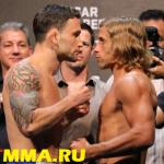 (Видео) Церемония взвешивания UFC Fight Night: Эдгар vs. Фабер