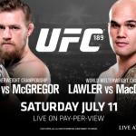 Результаты турнира UFC 189: Чад Мендес vs. Конор МакГрегор