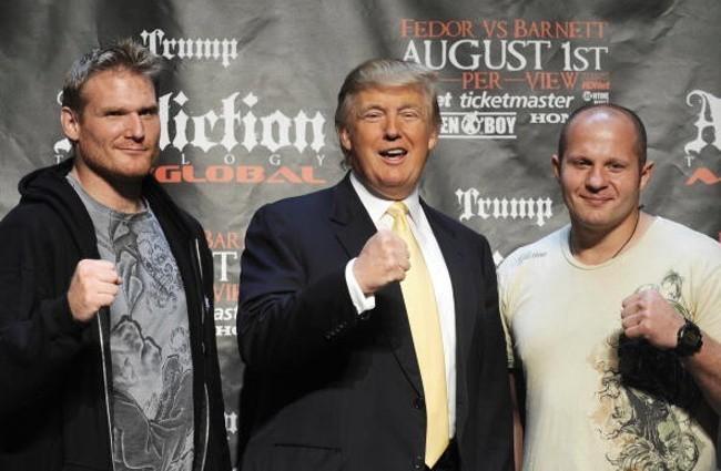 Барнетт, Трамп и Емельяненко (слева направо)