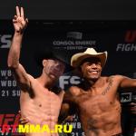 Результаты взвешивания к UFC Fight Night 83