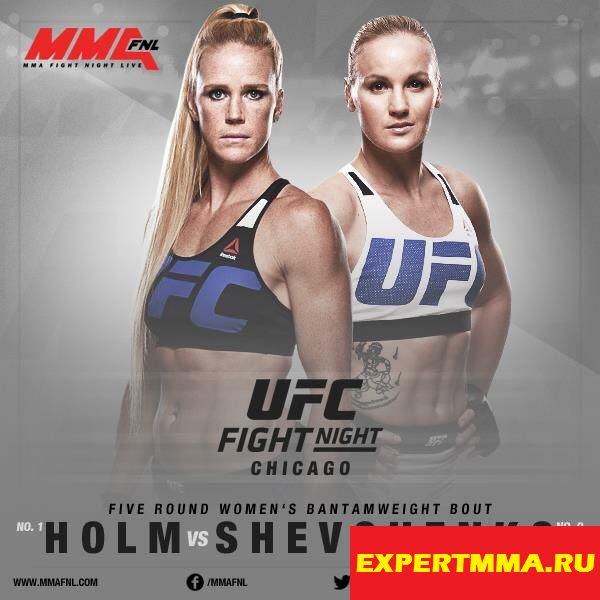 UFC On FOX 20. Holm vs Shevchenko