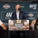 Майкл Биспинг и Люк Рокхолд чуть не подрались после пресс-конференции к прошедшему турниру UFC 199