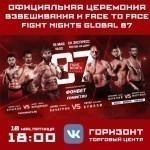 Результаты взвешивания турнира FIGHT NIGHTS GLOBAL 87