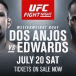Участники турнира UFC on ESPN 4: Рафаэль Дос Аньос - Леон Эдвардс