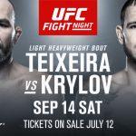 Видео боя Никита Крылов — Гловер Тейшейра UFC Fight Night 158