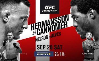 Результаты турнира UFC Fight Night 160: Джек Херманссон – Джаред Каннонье