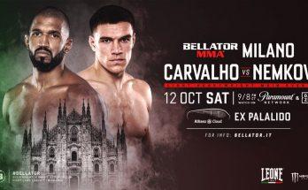 Прямая трансляция Bellator 230: Рафаэль Карвальо — Вадим Немков