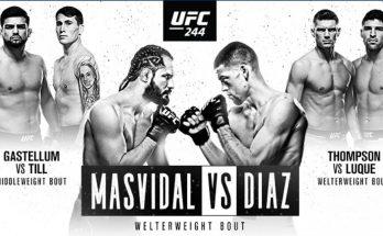Результаты турнира UFC 244: Хорхе Масвидаль — Нейт Диас