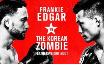Результаты турнира UFC Fight Night 165: «Корейский зомби» — Фрэнки Эдгар