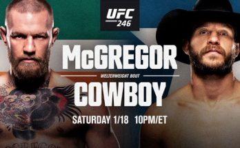Результаты турнира UFC 246: Конор МакГрегор – Дональд «Ковбой» Серроне