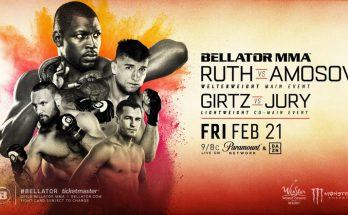 Прямая трансляция Bellator 239: Ярослав Амосов – Эд Рут