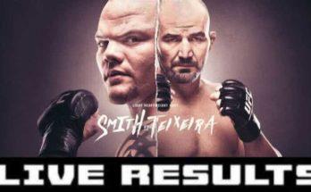 Результаты турнира UFC Fight Night 171: Энтони Смит – Гловер Тейшейра