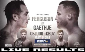 Результаты турнира UFC 249: Тони Фергюсон — Джастин Гэтжи, Генри Сехудо — Доминик Круз