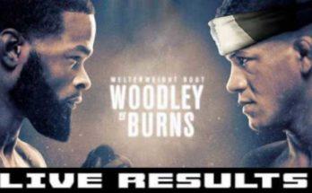 Результаты турнира UFC on ESPN 9: Тайрон Вудли — Гилберт Бернс
