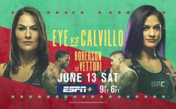 Прямая трансляция UFC on ESPN 10: Джессика Ай — Синтия Кальвильо