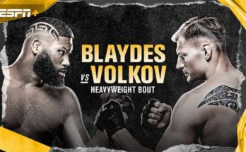 Прямая трансляция UFC on ESPN 11: Александр Волков — Кертис Блэйдс