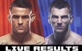 Результаты турнира UFC on ESPN 12: Дастин Порье — Дэн Хукер