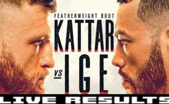 Результаты турнира UFC on ESPN 13: Келвин Каттар – Дэн Иге