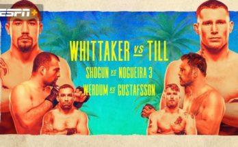 Прямая трансляция UFC on ESPN 14: Роберт Уиттакер — Даррен Тилл