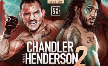 Результаты турнира Bellator 243: Майкл Чендлер — Бенсон Хендерсон 2