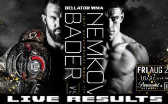 Результаты турнира Bellator 244: Райан Бейдер — Вадим Немков