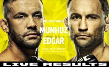 Результаты турнира UFC on ESPN 15: Фрэнки Эдгар — Педро Муньос