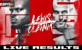 Результаты турнира UFC Fight Night 174: Алексей Олейник — Деррик Льюис