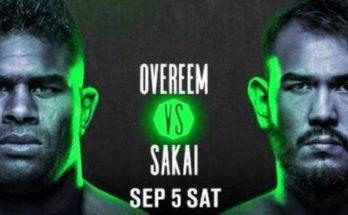 Прямая трансляция UFC Fight Night 176: Алистар Оверим — Аугусто Сакаи