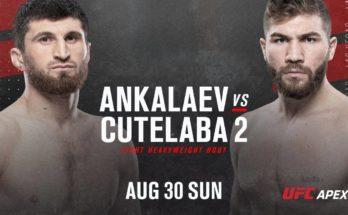 Видео боя Магомед Анкалаев — Ион Куцелаба 2 UFC Fight Night 175