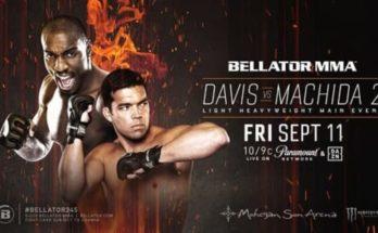 Прямая трансляция Bellator 245: Лиото Мачида – Фил Дэвис 2