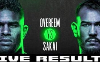 Результаты турнира UFC Fight Night 176: Алистар Оверим — Аугусто Сакаи