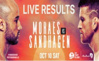 Результаты турнира UFC Fight Night 179: Марлон Мораес — Кори Сандхаген